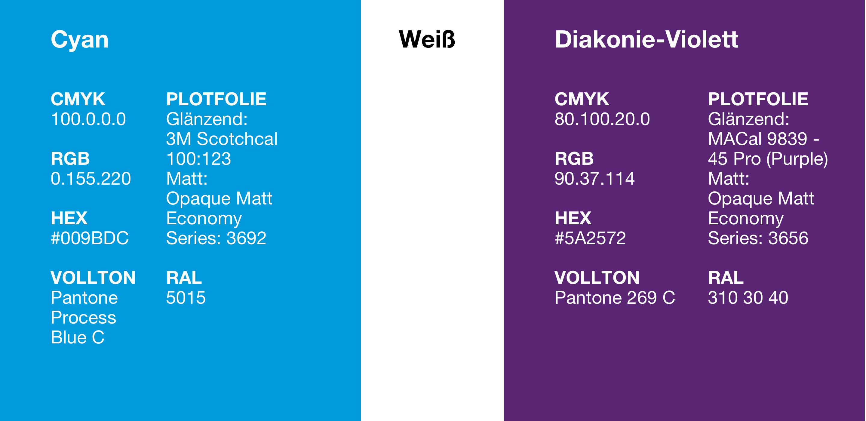 farben kreuzfl chen prinzip markenportal diakonie deutschland. Black Bedroom Furniture Sets. Home Design Ideas
